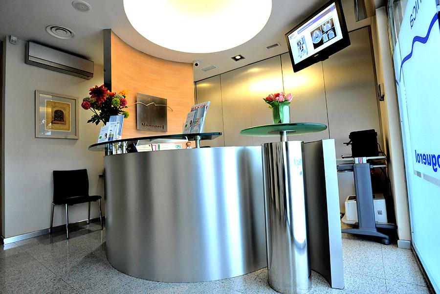recepcion centro odontológico clínica noguerol